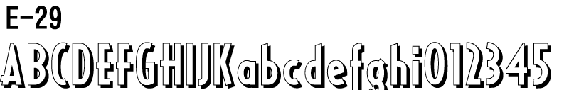 英文フォントE-29