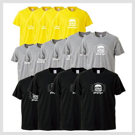 シャツの色・サイズが違う