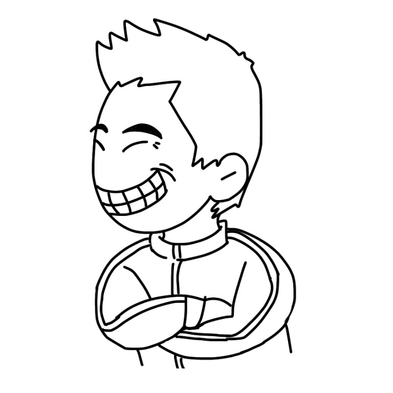 男性似顔絵イラスト