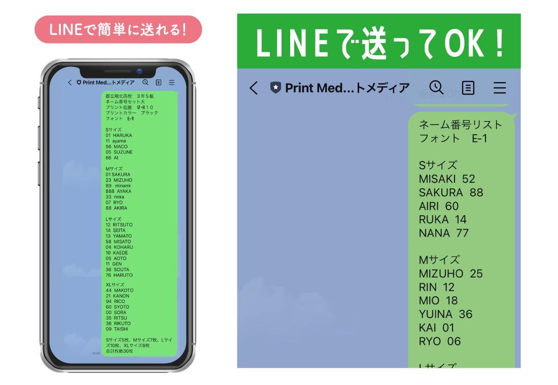 LINEリスト送信