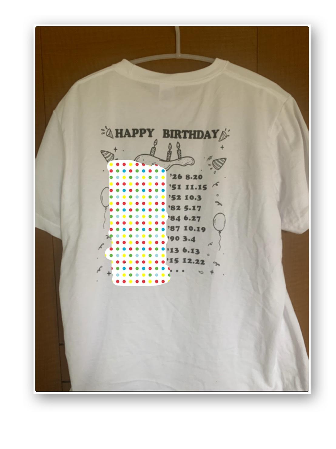 家族記念Tシャツ背面