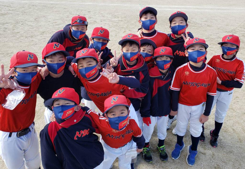 滋賀県東近江市  少年野球チーム K様 オリジナルマスク