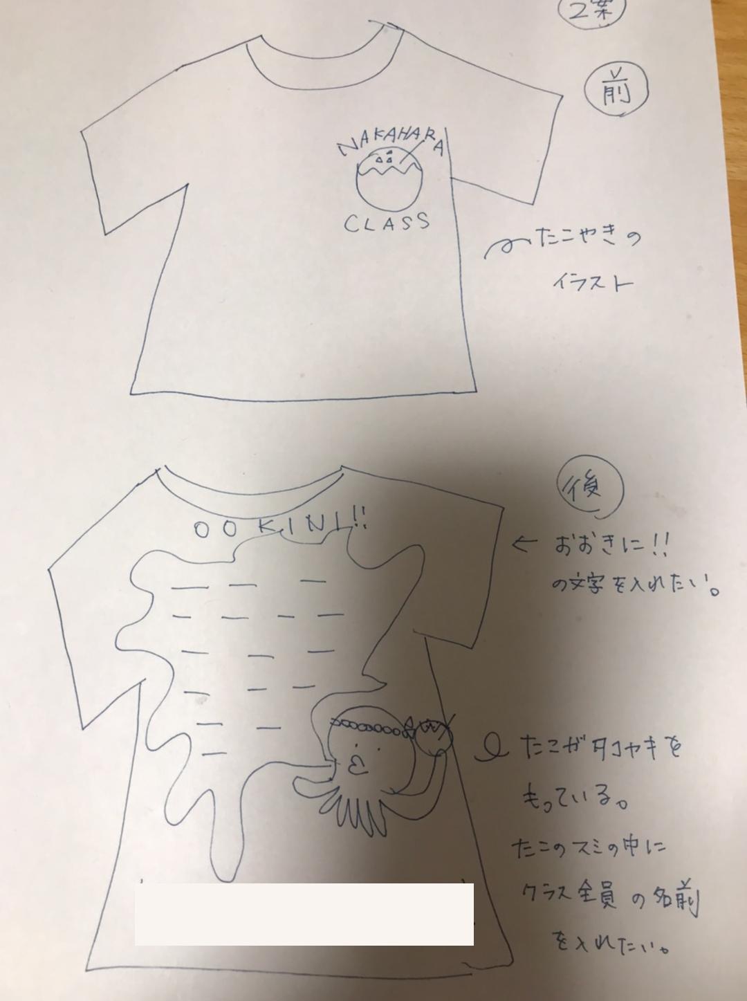 クラスTシャツ原稿