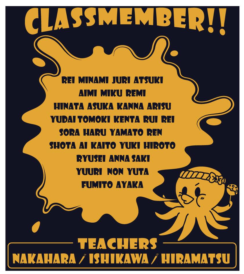 全員の名前クラスT