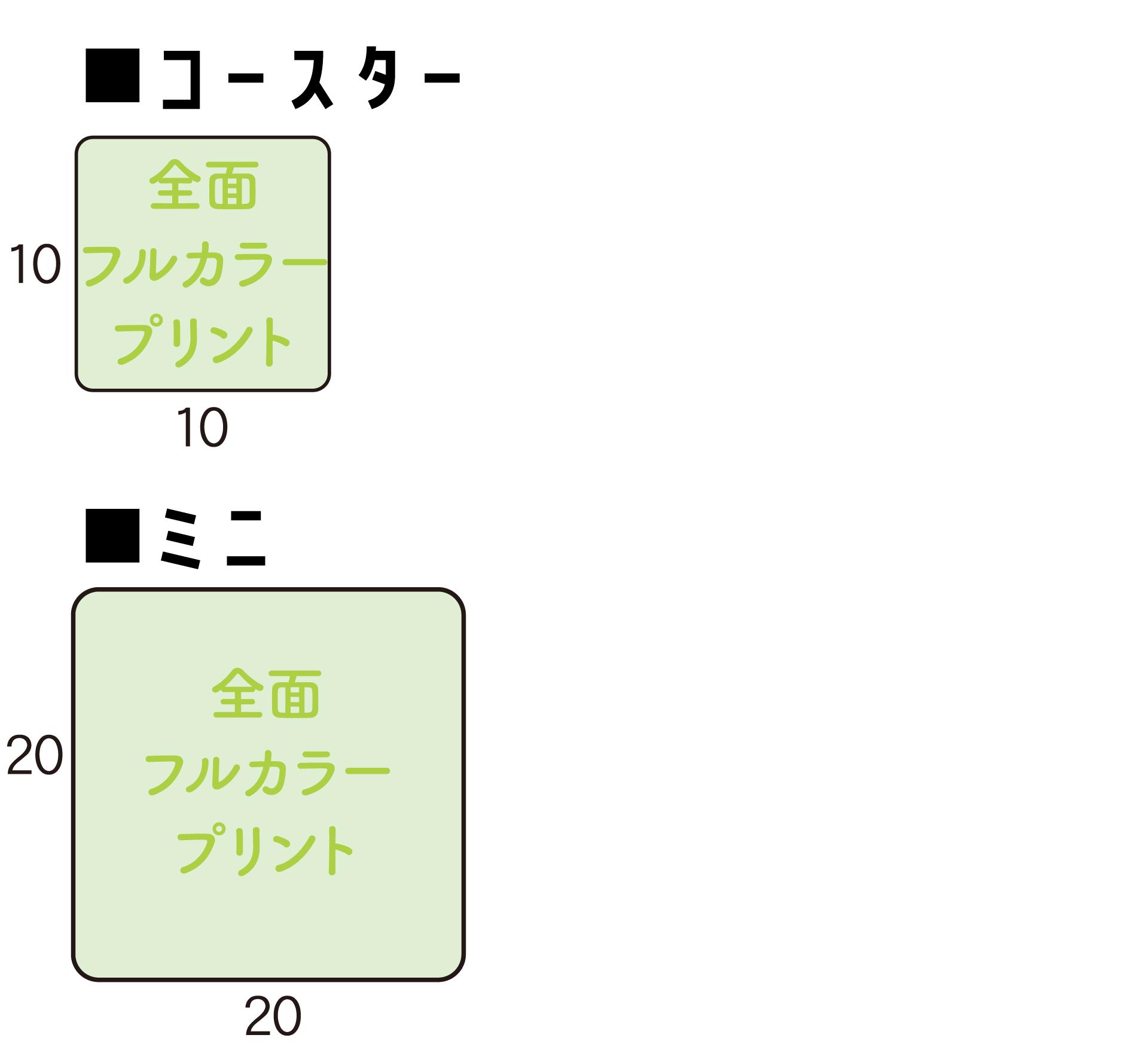 マイクロファイバーコースター