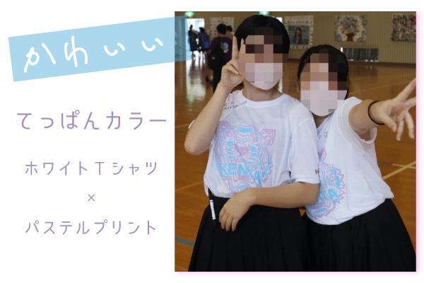 かわいいカラーのクラスTシャツ